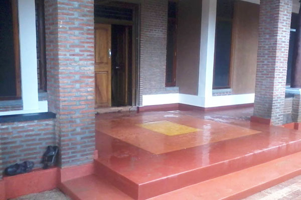 Red Oxide Flooring Auroshivas Good Earth Institute